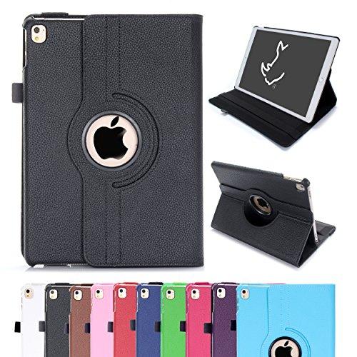 Étui pour iPad Air 2, Étui Housse Intelligent Rotatif RC 360 Couverture en Cuir PU pour Apple iPad Air 2 avec Sommeil / Éveil (iPad Air 2, Noir)