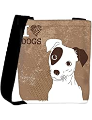 Snoogg Cute Jack Russell Terrier Brilliant Card For Doglovers Womens Carry Around Cross Body Tote Handbag Sling...