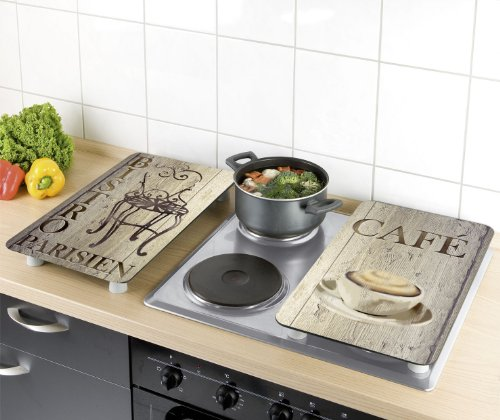 2 Glass Plates Board Induction Ceramic Hob Cover Worktop