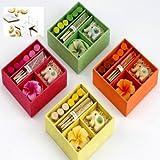 Ghasitaram Gifts Diwali Gifts - Set Of 4 Incense Sets With 200 Gms Kaju Katli