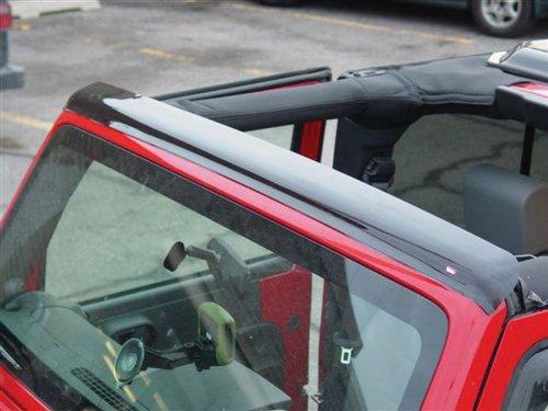 Wade 72-20102 Smoke Tint Top Wind Deflector for Wrangler
