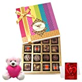 Valentine Chocholik Premium Gifts - Best Seasonal Gift Box Collection With Teddy And Love Card