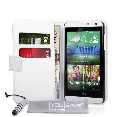 Yousave Accessories HTC Desire 610 Leather Wallet Cover Case