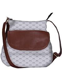 Grey Cross Obo, Ethnic Hobo Bag, Aztec Hobo Bag, Native Style Bag, Large Hobo Bag, Zipper Closure Bag, Large Shoulder...