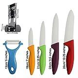 KurtzyTM Messerblock mit 5 Messern Harte Keramik Farbiges Set 5 Teile -