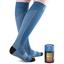 PeakForm Graduated Compression Socks, XXL, 15-20 MmHg - Best Performance Stockings For Running, Recovery, Travel...