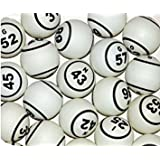 White Double Number Bingo Ball Set By Mr. Chips, Inc.
