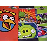 Angry Birds Space 3 Folder Set (Lightning, Picture Postcards On Green, Space Birds Vs. Green Pig)