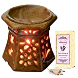 Medieval Art Ceramic Electric Aroma Diffuser With Lavender Oil - Design 13
