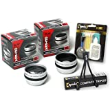 Opteka .5x Wide Angle & 2x Telephoto HD2 Pro Lens Set For Olympus SP-350 SP-310 Digital Camera
