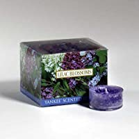 Yankee Candle Lilac Blossoms Tea Light Candles, Floral Scent