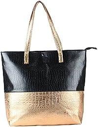 Pink Rose - Elegant Collection Black Bronze Charm Handbag