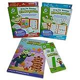 Leap Frog 4 Piece Kindergarten Learning Bundle: Math & Reading Practice Packs, Workbook, And Pencil & Eraser Pack