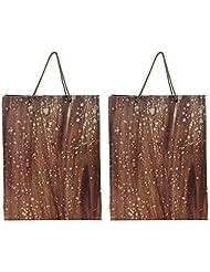 Richa Kriti Handmade Paper Reusable Shopper Bag (Brown)