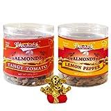 Chocholik Dry Fruits - Almonds Tangy Tomato & Lemon Pepper With Small Ganesha Idol - Diwali Gifts - 2 Combo Pack