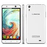 "Landvo XM100 - Smartphone Libre Android 5.1 (Quad Core, Pantalla 5.0"", IPS 960*540 HD, 1GB RAM, 8GB ROM, Cámara 5.0MP, Dual SIM, GPS, Smart Gesto) Blanco"