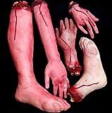 Cospassion 恐怖! 超リアル! 切られた手 足 ジョークグッズ  コスプレ ハロウィン クリスマス にも (切られた手足5個セット)