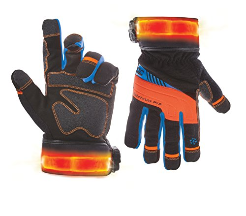 Leathercraft Lighted Winter Safety Viz Pro Gloves