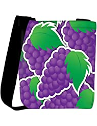 Snoogg Purple Grape Sticker Background Card In Vector Format Womens Carry Around Cross Body Tote Handbag Sling...