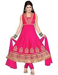 Elan Vital Women's Silk Cotton Anarkali Salwar Suit - B0188YGLES