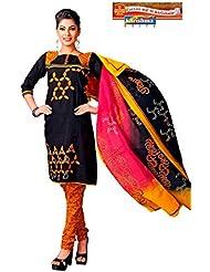 Karishma Suits Multi Color Printed Unstitched Salwar Suit With Dupatta