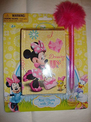 """Disney Minnie Mouse """"Dressing Up!"""" Mini Diary With Pen"""