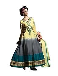 Mantra Fashion Multi Color Floral Thread Embroidery Work & Lace Border Work Anarkali Salwar Kameez