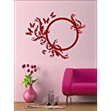 Wall1ders Round Creeper And Butterflies Burgundy 24(Inch Height Or Width) ,Burgundy