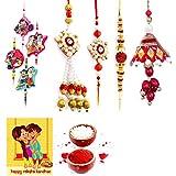 Gomati Ethnic Designer Ethnic 8 Pc Family Special Rakhi Gift Set Rakhi Gifts For Brother Free Shipping+Roli+Chawal+Greeting Card !! 2Bb4Ks210
