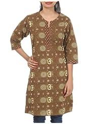 Rajrang Women's Wear Cotton Hand BLock Printed Long Kurta Tunic Size L