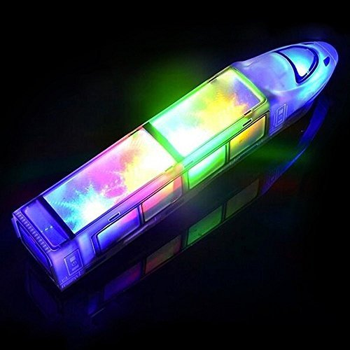 Dazzling Toys High Speed 3d Light-up Train - Train With Flashing Lights And Music, Moves Around The
