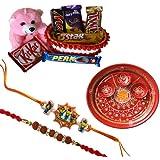 Kids Rakhi With Chocolate Hamper With Rakhi Thali