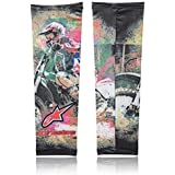 Zoook Moto69 Designer Anti Pollution Arm Sleeves For Bikers / Cyclists - Set Of 2 (Green)