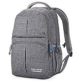 Bolang Fashionable Lightweight Waterproof Nylon Backpack School Bag Super Cute Stripe School College Laptop Bag for Teens Girls Boys Students 8459 (Grey)