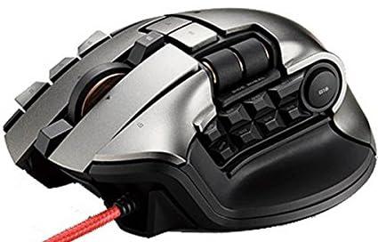 エレコム MMOゲーミングマウス/2PC操作/19ボタン/5000dpi