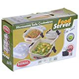 Food Server Container Set With Lids, 400 ML + 600 ML + 1100 ML (Free Shipping)