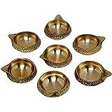 Brass Diwali Kuber Depak For Puja Home Temple-Diya Oil Lamp (10pcs)