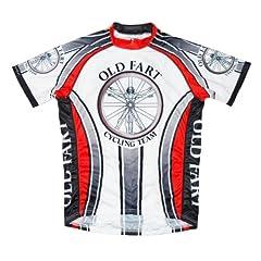 Old Fart Cycling Team Jersey by Primal Wear Vitruvian Man Mens Short Sleeve
