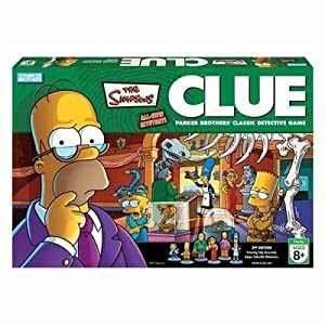 Click to buy Simpsons Clue game from Amazon!