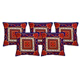 El Sandalo Cotton Printed Home Décor Cushion Covers (Set Of 5 Pcs) - B011NKECJ0