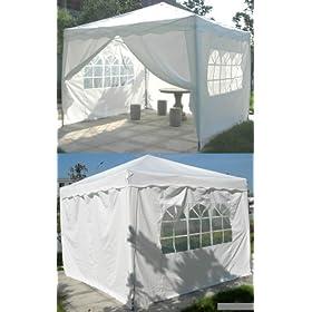 New 10' X 10' EZ Pop Set Up Canopy Tent Gazebo Includes 4 Sidewalls White