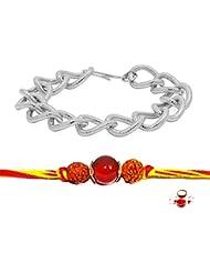 Factorywala Silver Plated Bracelet With Multi Color Rakhi For Brothers (2 Set) - B01K7HG9V4