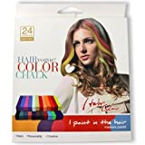 Hair Chalk 24 Colors - Non-toxic Temporary Hair Pastel Chalk Beauty Kit - As Seen On Tv