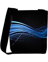 Snoogg Abstract Blue Design Designer Womens Carry Around Cross Body Tote Handbag Sling Bags