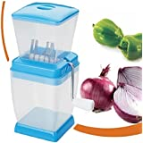 Varshine Plastic Vegetable & Fruit Chopper With Chop Blades & Cleaning Tool (Color May Vary),1-Piece - B01N5WGR91