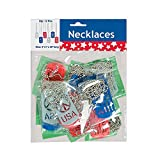 Patriotic Cut-out Dog Tag Necklaces (12 Pack)