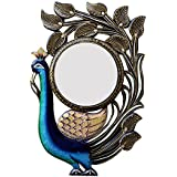 Divraya Wood Peacock Wall Mirror (30.48 Cm X 4 Cm X 45.72 Cm, DA126)