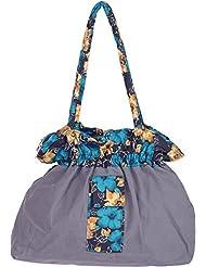 Bhagidhari Handloom Cotton 5 L Beach Tote Bag (SUSY-3)