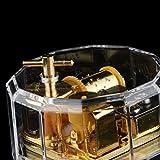 Acrylic Dodecagon Clockwork Music Box Melody Box Kids Gift Romeo and Juliet