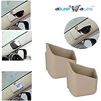 Allure Auto Car Pillar Storage Pockets Set Of 2 - Beige For Maruti Suzuki Alto 800 LXI (O)